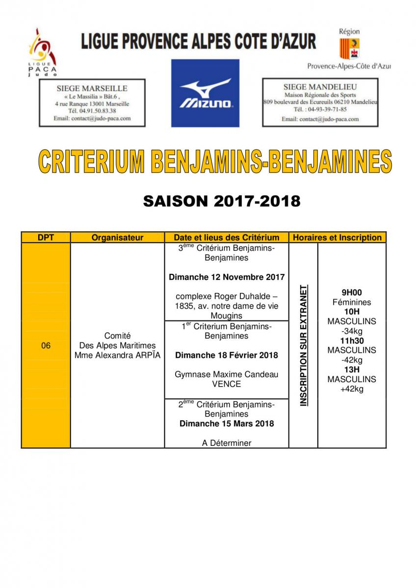 ligue tbo judo calendrier